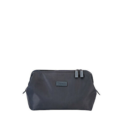 NEW Lipault Plume Accessories Toiletry Kit Anthracite Grey
