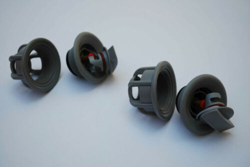 Pair of Inflatable Valve Caps with Cord Inside Universal Grey RIB Tender Dinghy