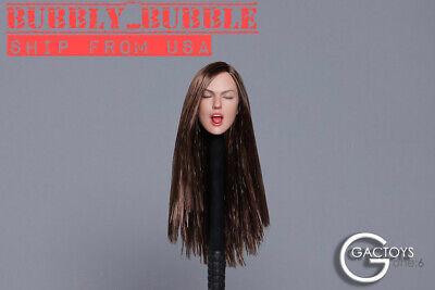 """1//6 Female Head Sculpt Avec Languette Pour 12/"""" HOT TOYS PHICEN Figure GC025 D ☆ USA ☆"""