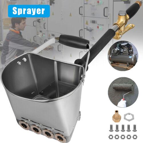 Cement Mortar Sprayer Hopper 4 Jet Paint Wall Concrete Tool Stucco Spray Gun Set