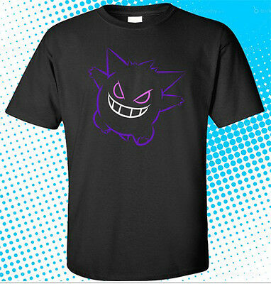Cool POKEMON GENGAR Anime black t-shirt shirts tee XS-3XL