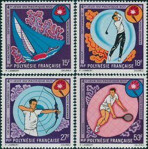 French-Polynesia-1971-Sc-C74-C77-SG137-140-South-Pacific-Games-set-MNH