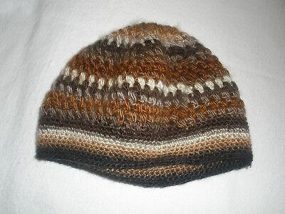 2019 Moda Bonnet Au Crochet En Laine Marrons Femme