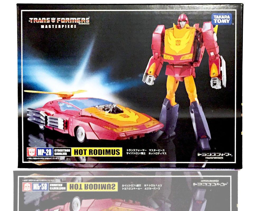 R Takara Transformers Masterpiece MP28 MP-28 Cybertron Hot Rod Rodimus Figure
