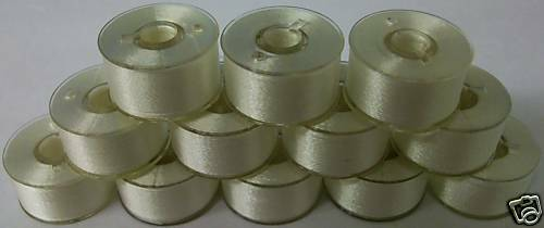 36 White Prewound Bobbins SA156 For Brother SE400 SE600 PE540D PE770 LB6800
