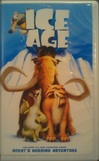 """Ice Age (VHS, ClamShell, 2002) +Animated Short, """"Scrat's Missing Adventure."""" VG."""