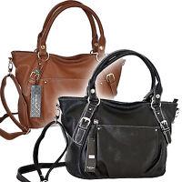 Luxus XXL Damen Leder Optik Handtasche Bag Schulter Shopper Tasche Bag Schwarz