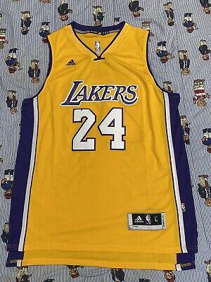 Los Angeles Lakers Kobe Bryant #24 Adidas Yellow Jersey Swingman - Size Large   eBay