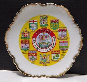 CANADA-Coats-of-Arms-and-Emblems-Souvenir-Plate-Ontario-Quebec-Manitoba