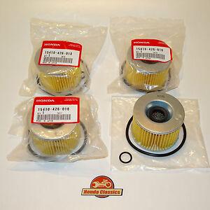 KIT017 Honda 15410-426-010 Genuine Oil Filter x 4 CB400F CB500 CB650 CB750 SOHC