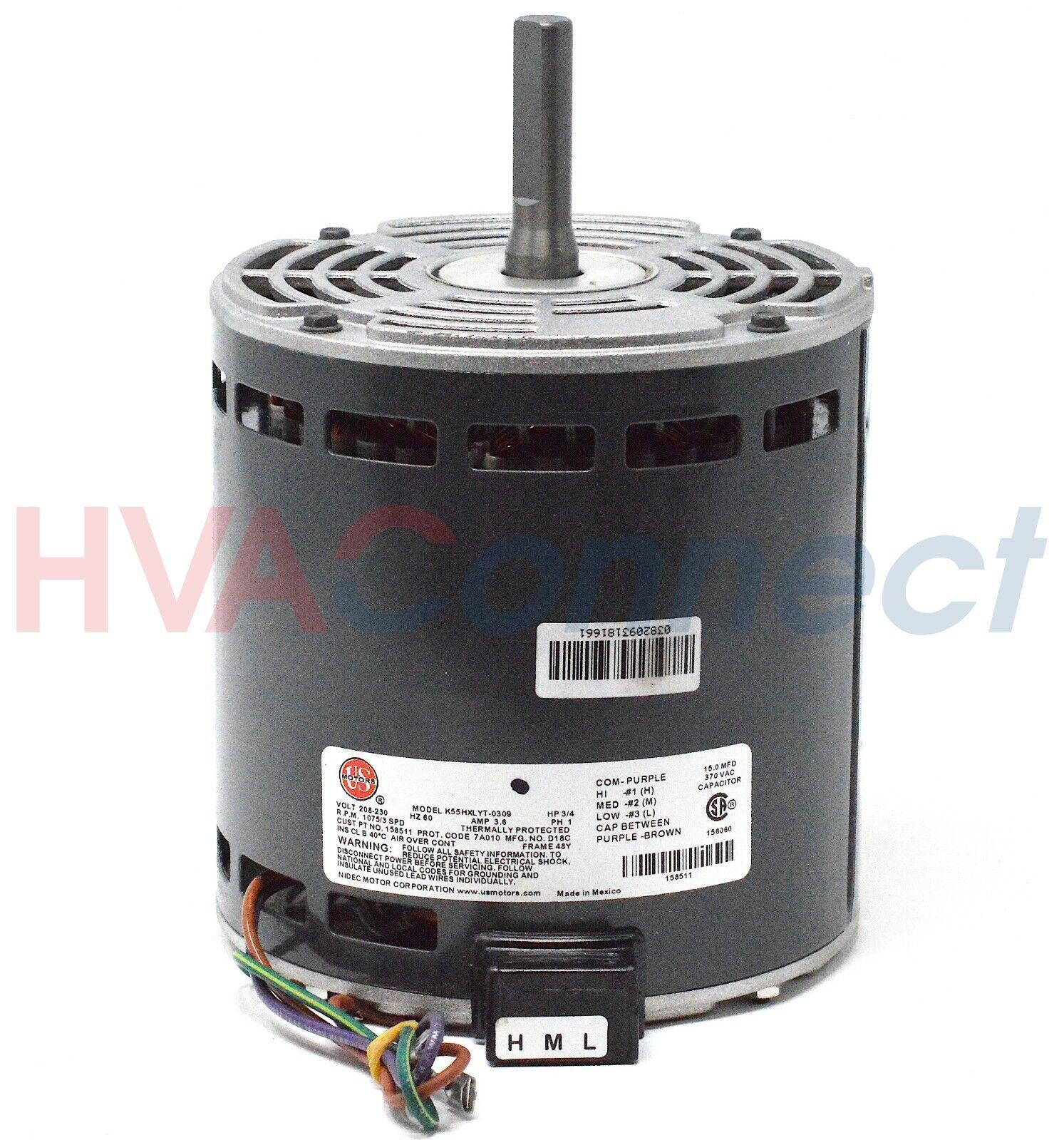 OEM York Luxaire Coleman Blower Motor 3//4 HP S1-02436270000 024-36270-000