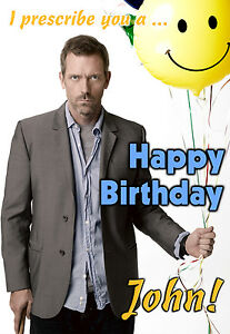 Dr-House-MD-Hugh-Laurie-Get-Well-Personalised-Greeting-Happy-Birthday-ART-Card