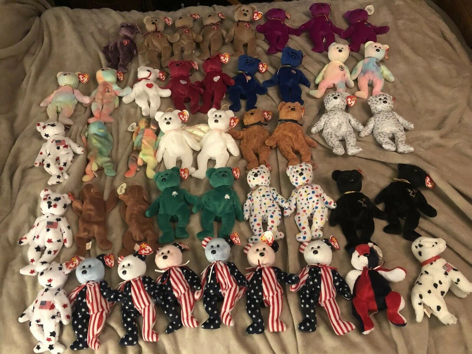 Beanie Babies Lot of 44 Rare. Years Included 1993-2001.