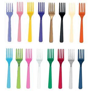 20-Reutilisable-Plastique-FOURCHES-Amscan-Anniversaire-Fete-Vaisselle