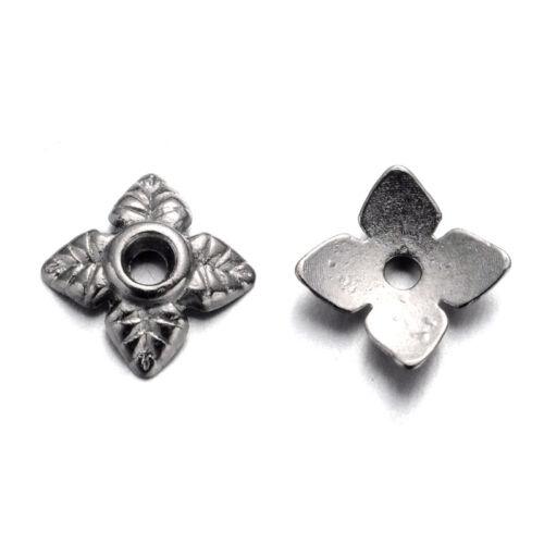 1000pcs Tibétain Alliage Fleur Bead Caps 4-Pétale Nickel Libre Findings Beading 6 mm