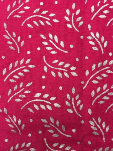 Stunning Square New Red//Gold Block Print Tablecloth 150cms X 150 Cms