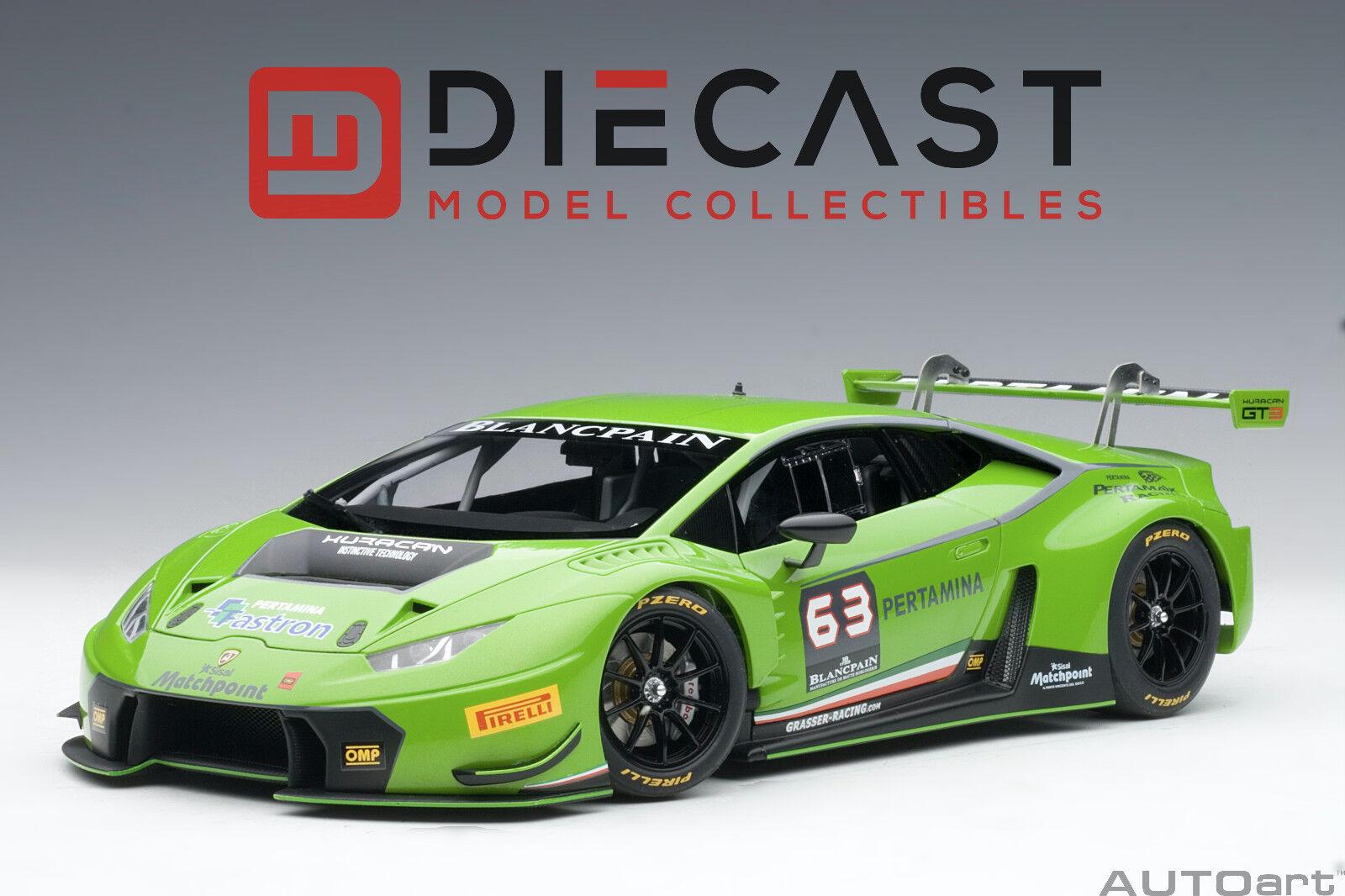 sorteos de estadio Autoart 81529 Lamborghini Huracan GT3 GT3 GT3 verde mantis de 4 capas verde Perla  63 1 18  Precio por piso