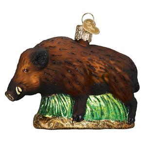 034-Wild-Boar-034-12500-X-Old-World-Christmas-Glass-Ornament-w-OWC-Box
