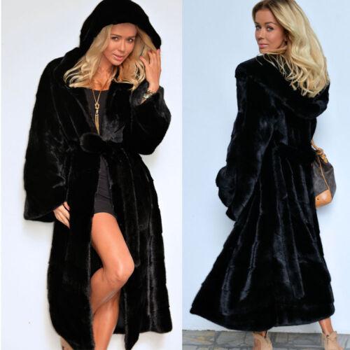 Fleece Long Overcoat Winter Outwears Kvinders Belt Hooded Parka Coat Trench q47nw5C1