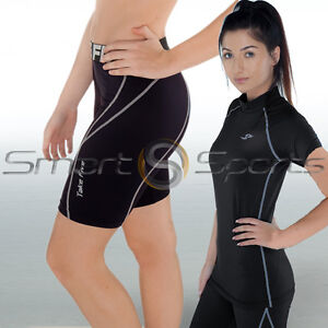 2-Pack-Ladies-Skin-Tight-Sports-Compression-Short-Sleeves-Top-Shorts-8-20-TFx
