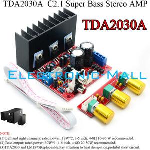 TDA2030A-Super-Bass-2-1-Channel-18W-2-30W-4-8-Stereo-Power-Amplifier-HIFI-DIY