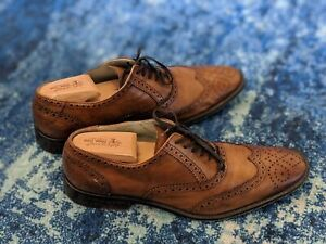 Kenneth-Cole-Wing-Tip-Oxfords-Brown-Tan-Men-039-s-US-9-5-Original-Box