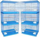 Lot of 6 Aviary Breeding Breeder Bird Cages 24x16x16--2426 Blue-747