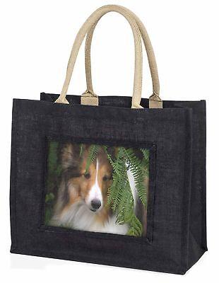 Shetland Sheepdog große schwarze Einkaufstasche Weihnachten