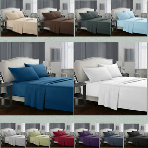 Egyptian-Comfort-1800-Count-4-Piece-Deep-Pocket-Bed-Sheet-Set-Queen-King-Size