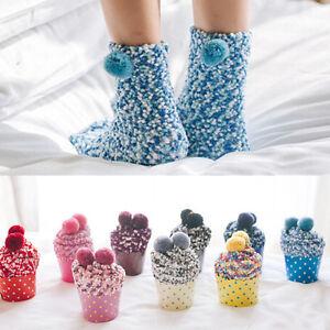 Usa Fall Winter Xmas Womens Cashmere Thick Warm Socks Winter Striped