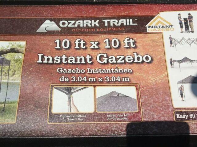 Ozark Trail 10 x10 Instant Outdoor Patio Gazebo Canopy ...