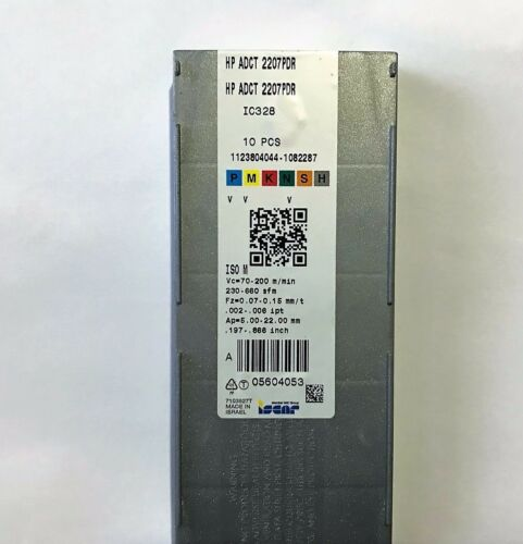 ISCAR CARBIDE INSERT HP ADCT 2207PDR IC328
