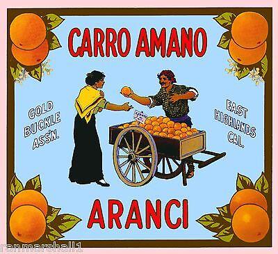 East Highlands San Bernardino Zebra Orange Citrus Fruit Crate Label Art Print