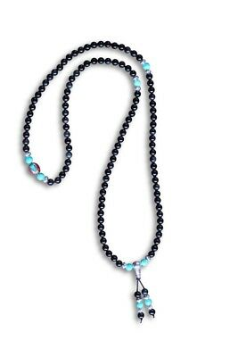 Sammlung Hier Gebetskette Mala Buddhistische Halskette Schwarzer Achat Türkis Asienlifestyle Keine Kostenlosen Kosten Zu Irgendeinem Preis