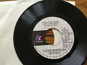 """1976 KC AND THE SUNSHINE BAND """"SHAKE YOUR BOOTY"""", """"BOOGIE SHOES"""" 45 rpm"""