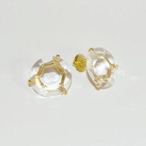 Image Is Loading Ippolita Gemma Clear Quartz Stud Earrings In 18k