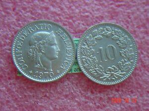1-x-10-Rappen-1970-Muenzen-Schweiz-1970-Swiss-siehe-Bild-Coin-Svizzera-3-01-gr