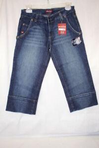 Nwt Jeans Moto river Donna b113 Taglia Uk Capris 28 Design z6RrqUz