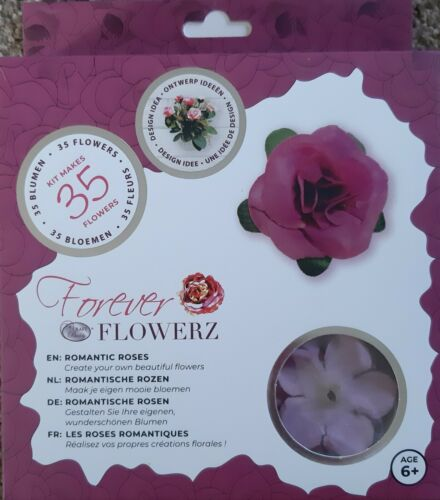CRAFT BUDDY Forever Flowerz ROMANTIC ROSES KIT Makes 35 flowers
