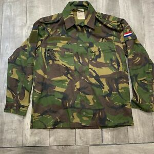 RARE-Vintage-Dutch-Whaler-1990-Army-Camo-Camouflage-Button-Up-Field-Jacket