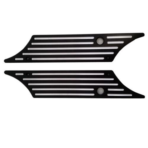 Black Edge Cut CNC Billet Hard Saddlebag Latch Cover for Harley Touring FLHR
