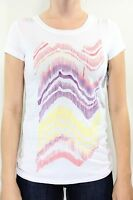 New VOLCOM Womens Constant Change Shee T Shirt S Small White/Purple/Pink DR1