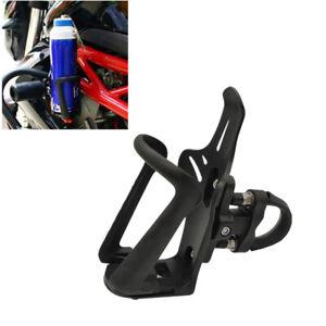 Universal-Schwarz-Motorrad-Flaschenhalter-Becherhalter-Sturzbuegel-Halterung-1x