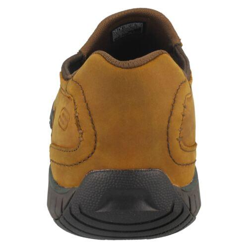 65287 bascom Hombre Cuero Cordones Skechers Sin Sendro Zapatos Marrón Casuales CZZ5w