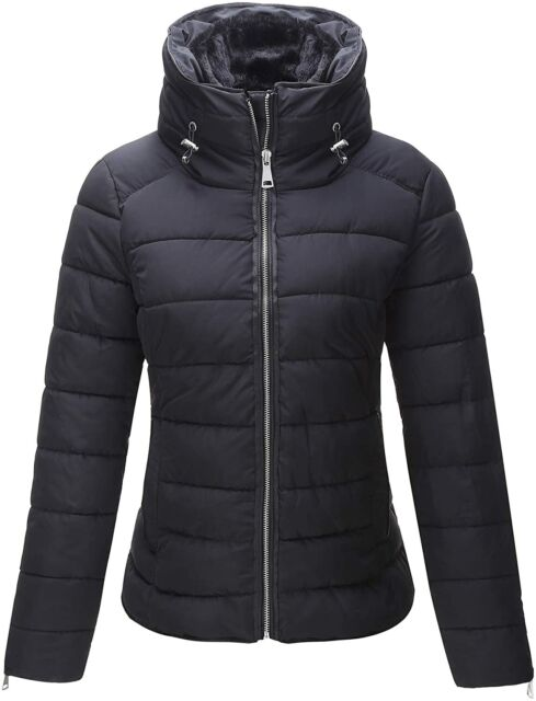 Bellivera Thin Lightweight Loose Jacket Women,Puffer Coat Cotton Filling for Spring and Fall