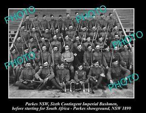 OLD-POSTCARD-SIZE-PHOTO-OF-PARKES-NSW-BOER-WAR-6th-IMPERIAL-BUSHMEN-c1899