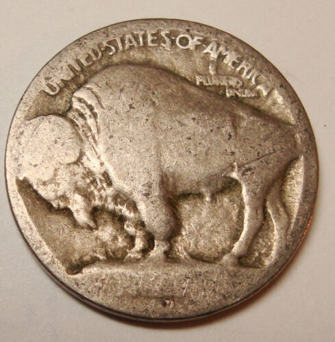 1913 D Buffalo Nickel 5c Coin Raised Mound Type 1 WOW