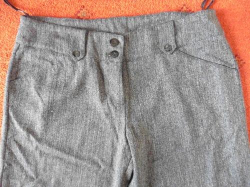 di scuro Pantaloni da 16 grigio taglia Herringbone pesce a donna spina w4rx4FX