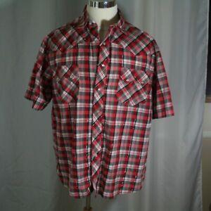 Wrangler-Rustler-Western-Shirt-Pearl-Snap-Size-XL