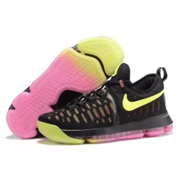 51bf7eb2630 Nike Zoom Kd9 KD 9 GS Kids Boys Girls Basketball Shoes 855908-999 6 ...